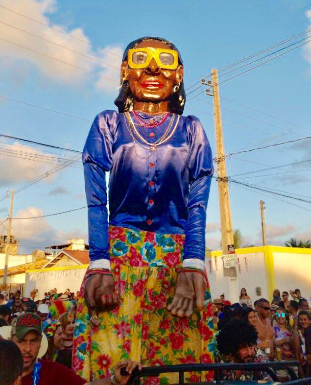 Fotografia cedida por Fernando Alves, folião que esteve presente no bloco criado em homenagem a Miss Paripueira.